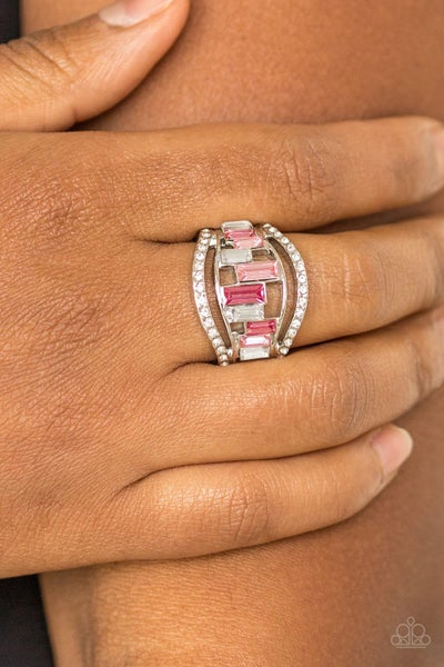 Treasure Chest Charm - Pink Ring