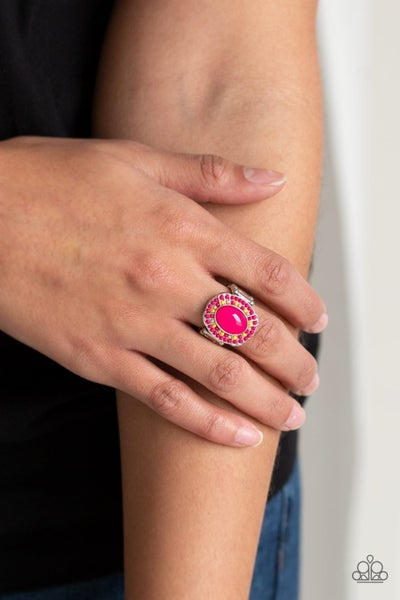 Colorfully Rustic - Pink Ring
