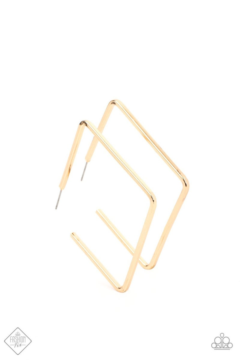 Material Girl Magic - Gold Hoop Earrings - April 2021 Fashion Fix