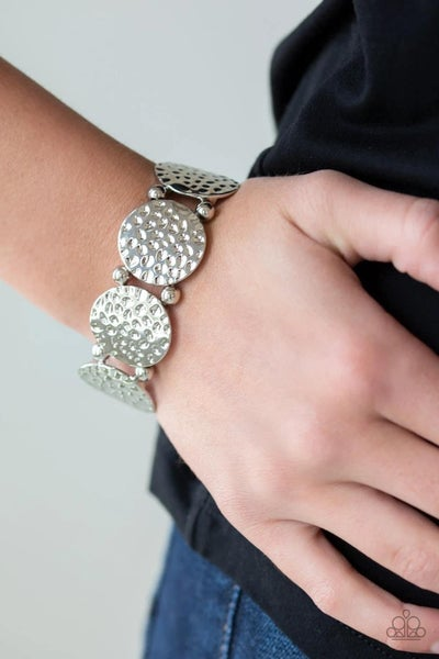 GLISTEN and Learn- Silver Stretchy Bracelet