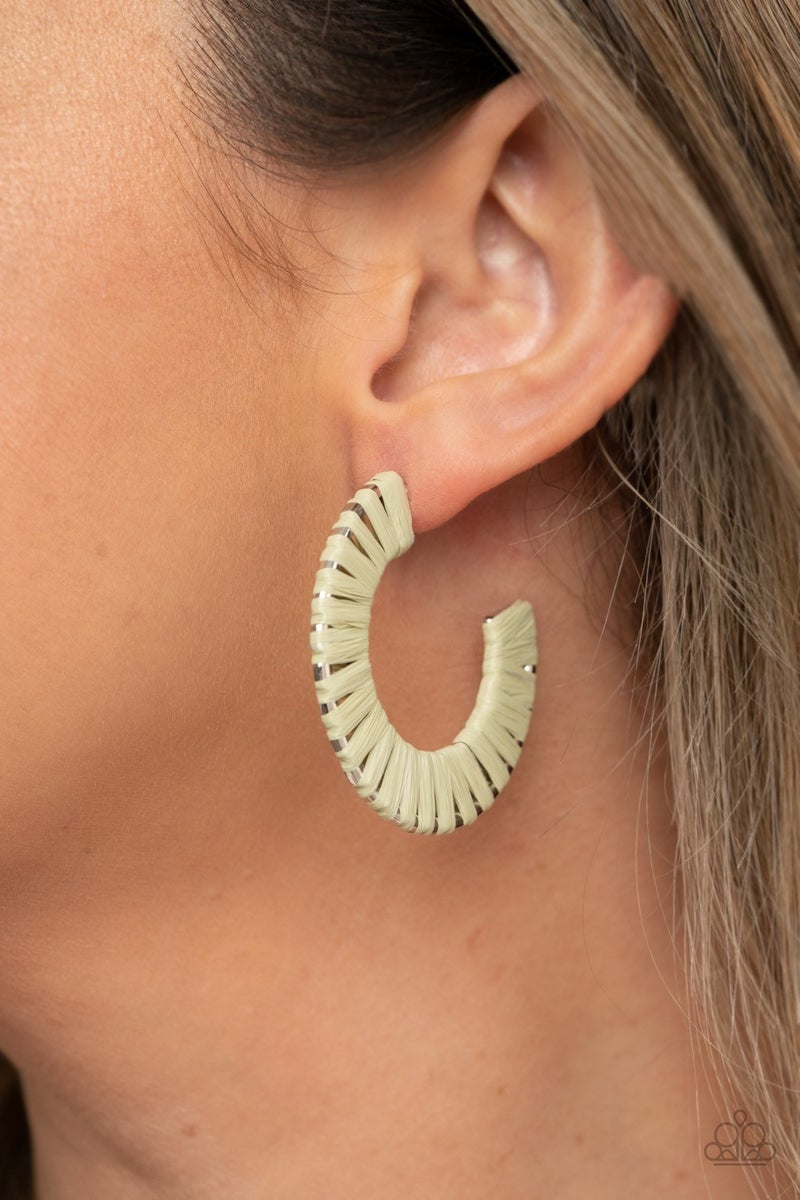 A Chance of RAINBOWS - Green Hoop Earrings