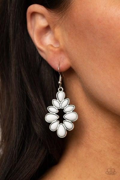 Burst Into TEARDROPS - White Earrings