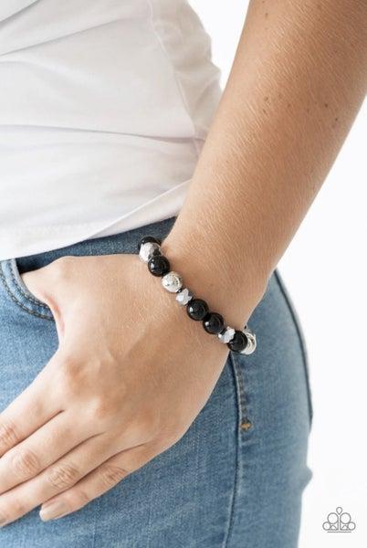 Very VIP - Black Stretchy Bracelet