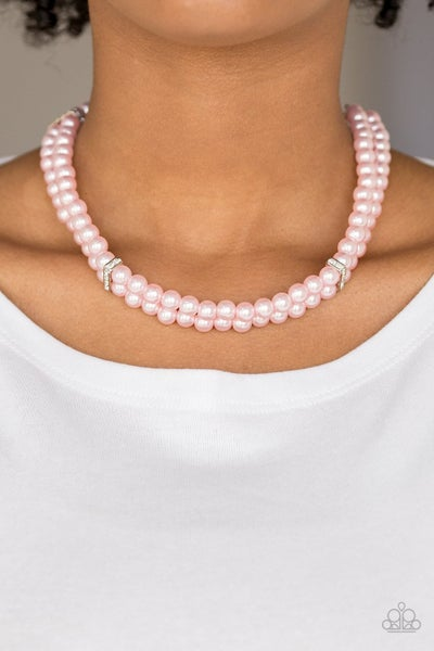 Put On Your Party Dress - Pink Necklace