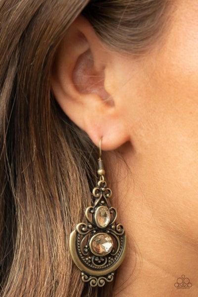 Unlimited Vacation - Brass Earrings