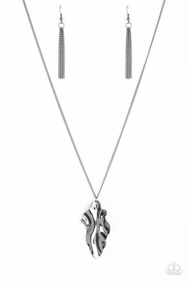 Fiercely Fall - Gunmetal Necklace