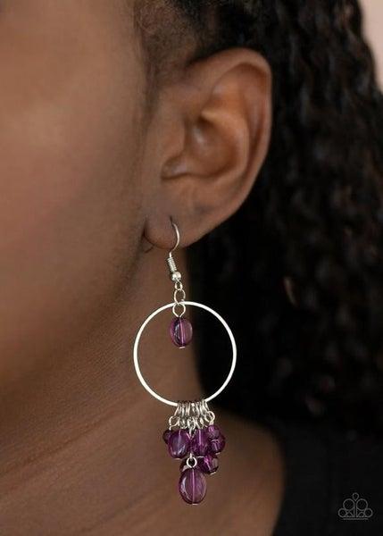 Where The Sky Touches The Sea - Purple Earrings