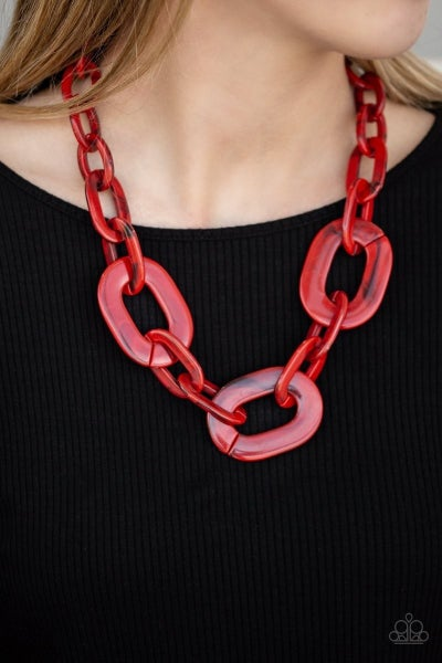 All In-VINCIBLE/Torrid Tropicana - Red Necklace