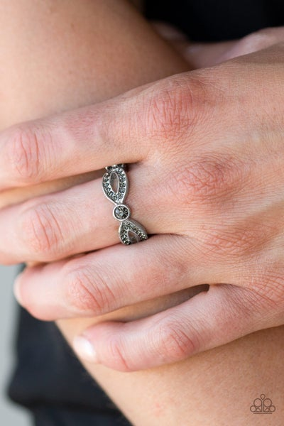 Extra Side Of Elegance - Silver Ring