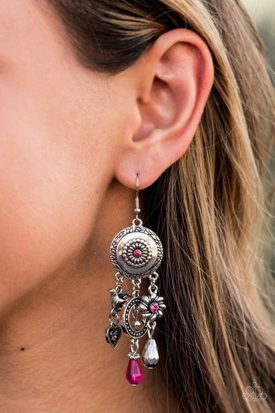 Springtime Essence - Pink Earrings