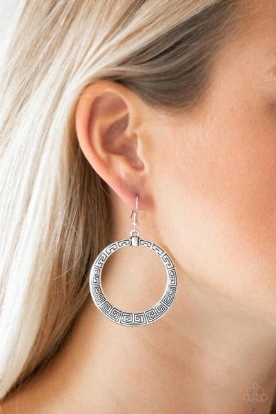 Mayan Mantra – Silver Earrings