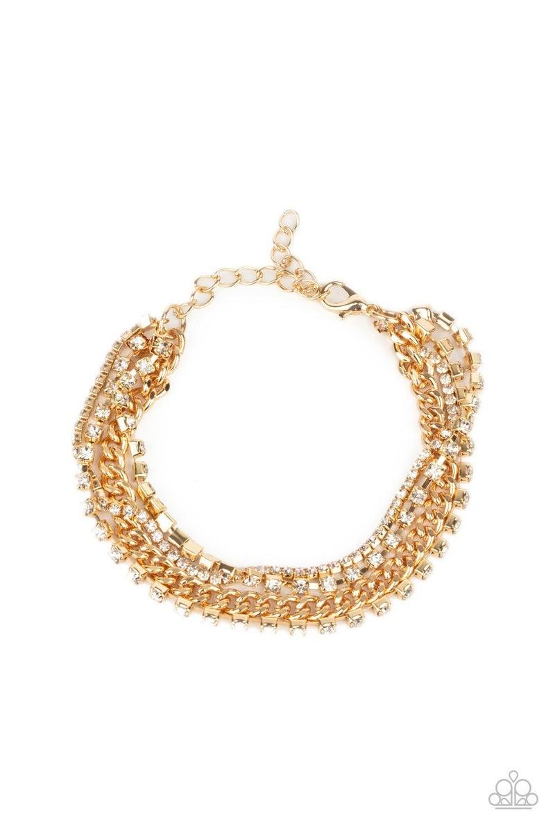 Brilliantly Beaming - Gold Clasp Bracelet