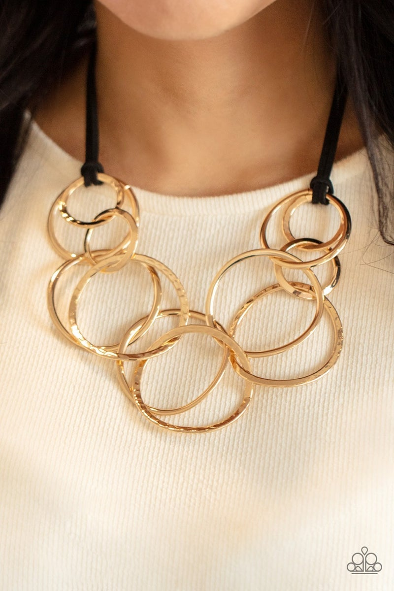 Spiraling Out of COUTURE - Gold Necklace