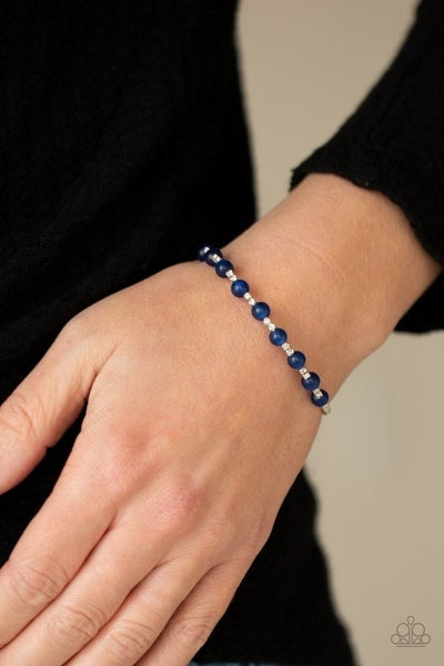 Tea Party Twinkle - Blue Stretchy Cuff
