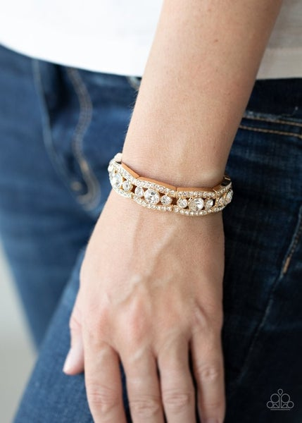 Easy on the ICE - Gold Stretchy Bracelet