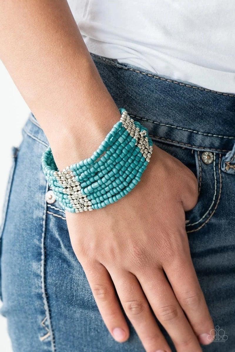 Outback Odyssey - Blue Stretchy Bracelet