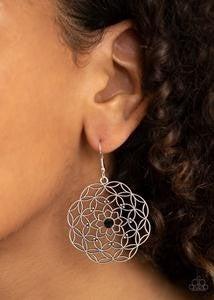 Botanical Bash - Black Earrings