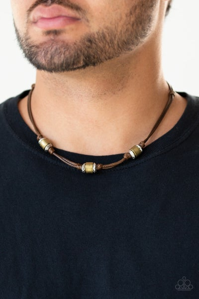 Renegade Ranger - Brown Urban Necklace