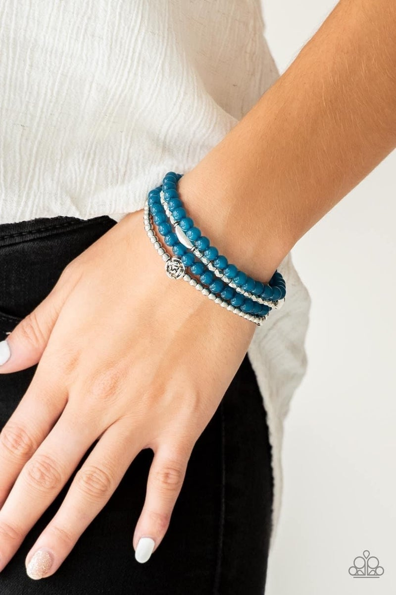Blooming Buttercups – Blue Stretchy Bracelet