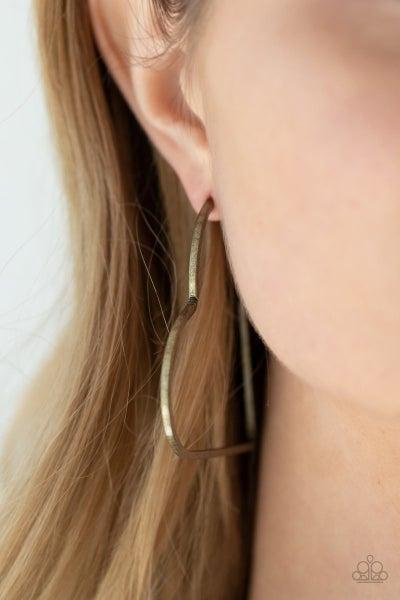 I HEART a Rumor - Brass Hoop Earrings