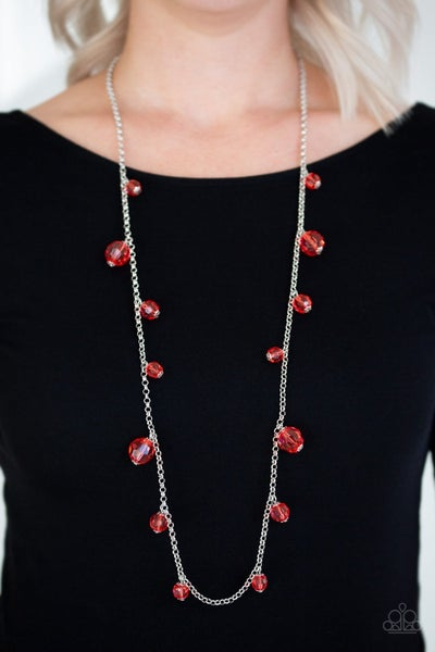 GLOW-Rider - Red Necklace