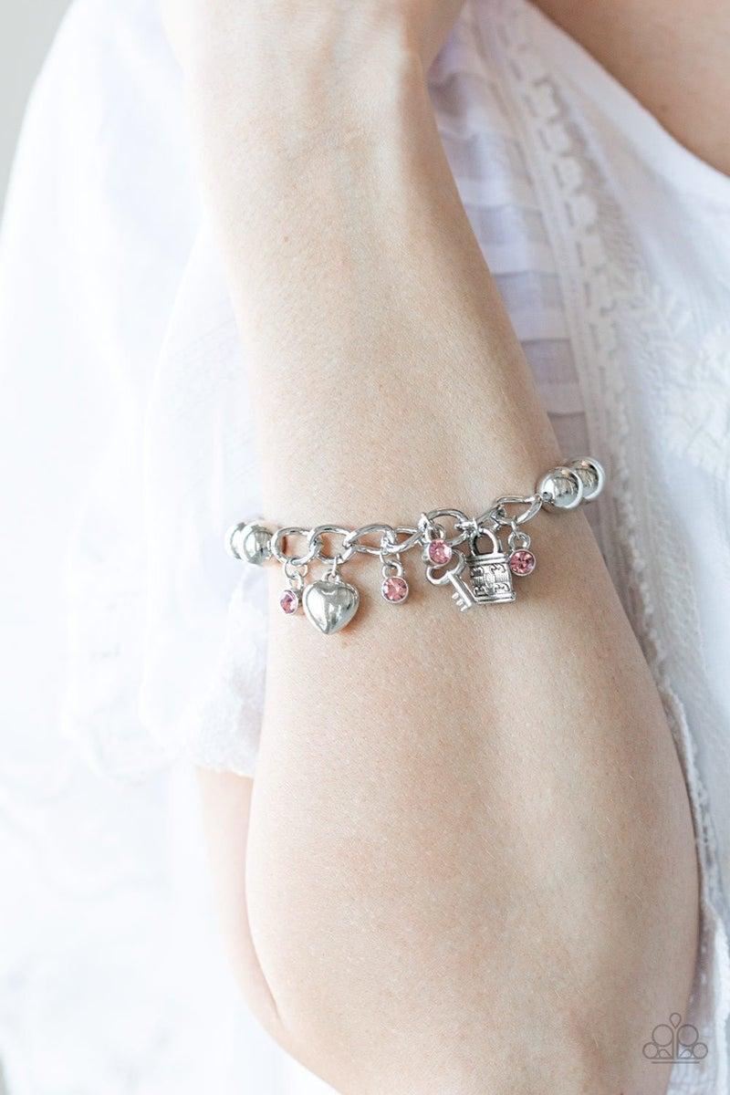 Feelin Flirtatious - Pink Stretchy Bracelet