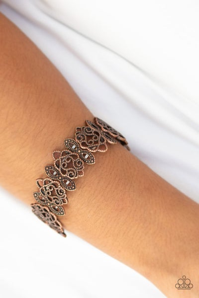 When Yin Met Yang - Copper Stretchy Bracelet