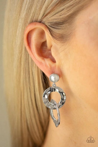 On Scene - White Earrings