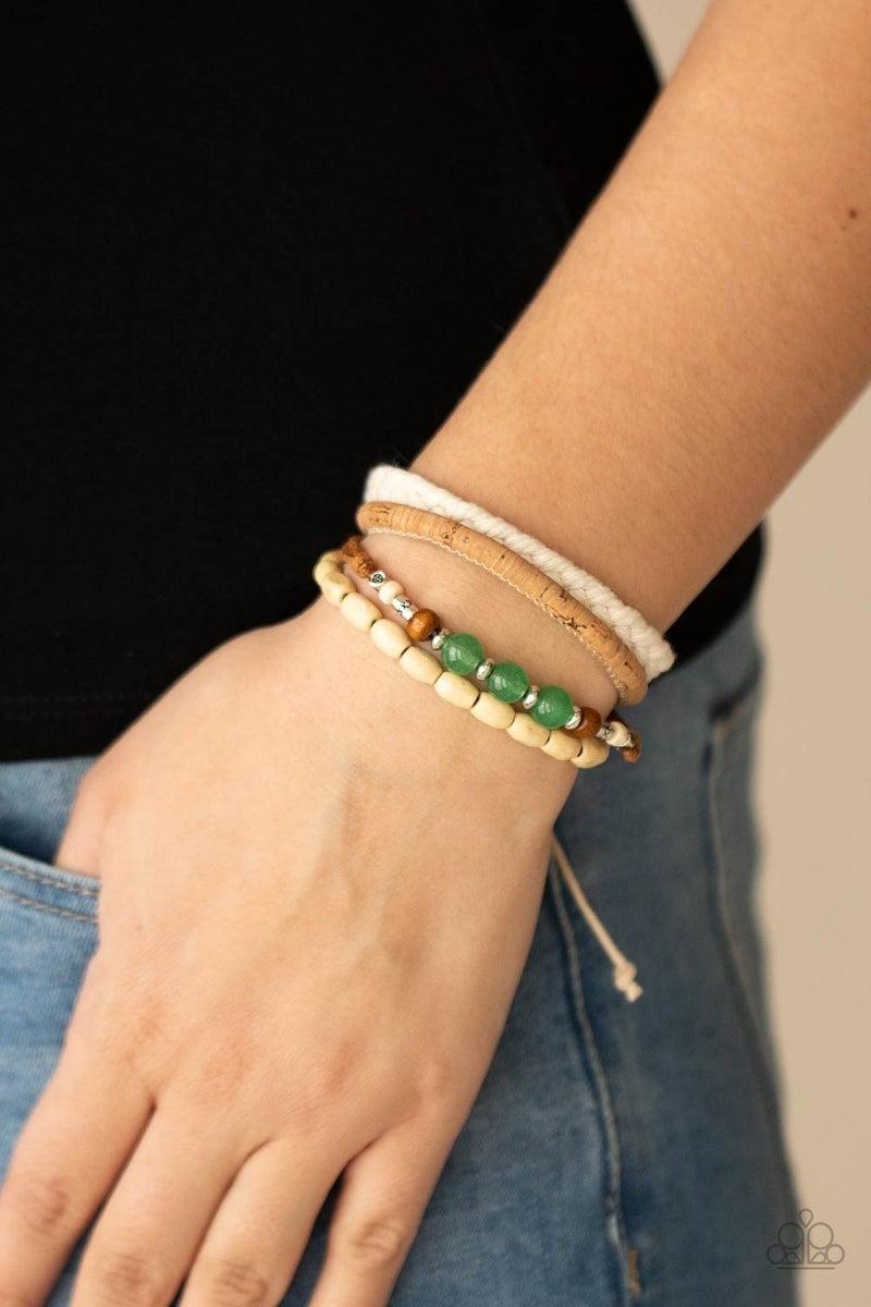 Natural-Born Navigator - Green Urban Bracelet