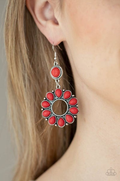 Back At The Ranch - Red Earrings