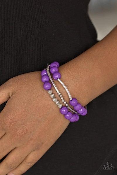 New Adventures - Purple Stretchy Bracelet