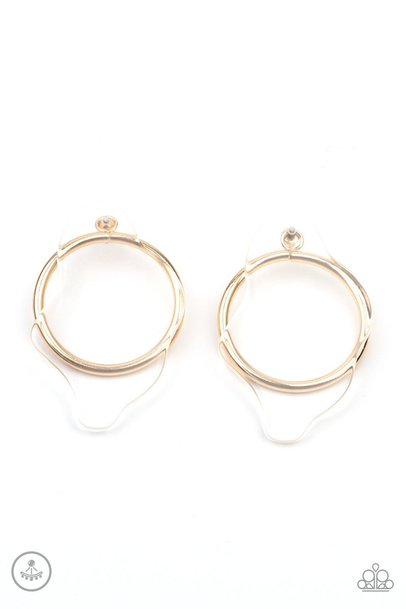 Clear The Way! - Gold Earrings