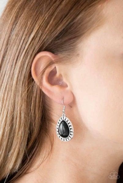 Sahara Serenity - Black Earrings