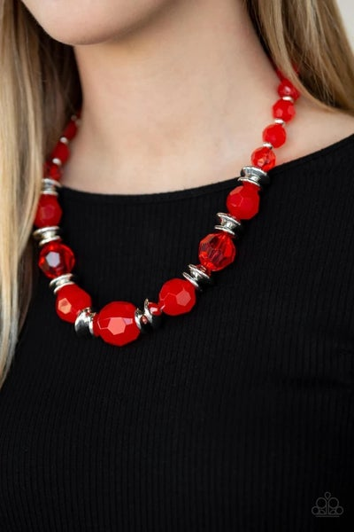 Dine and Dash - Red Necklace
