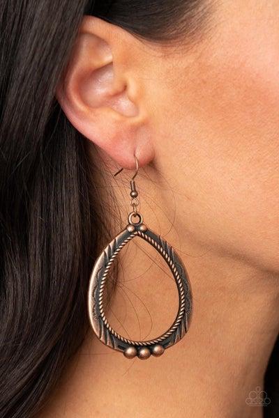 Terra Topography - Copper Earrings