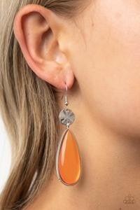 Jaw Dropping Drama - Orange Earrings