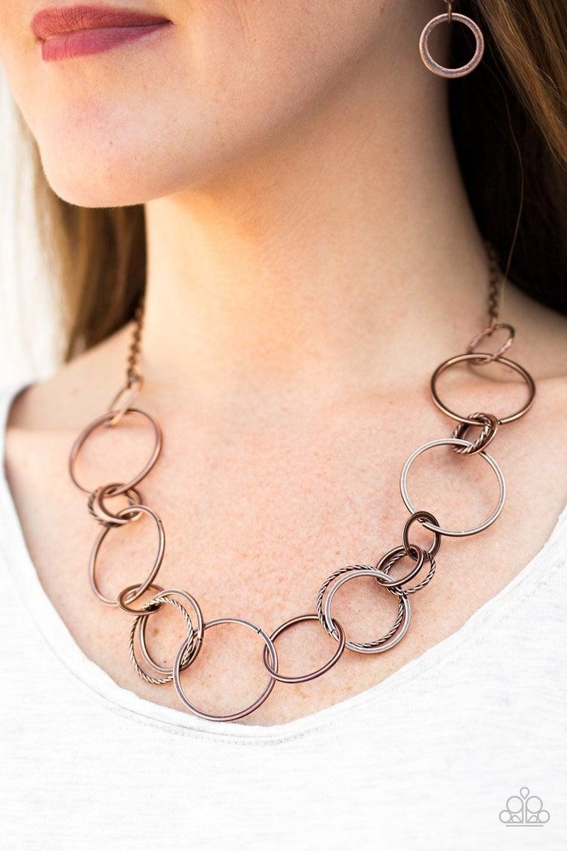 Follow The RINGLEADER - Copper Necklace