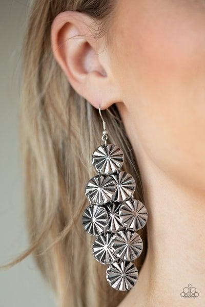 Star Spangled Shine - Silver Earrings