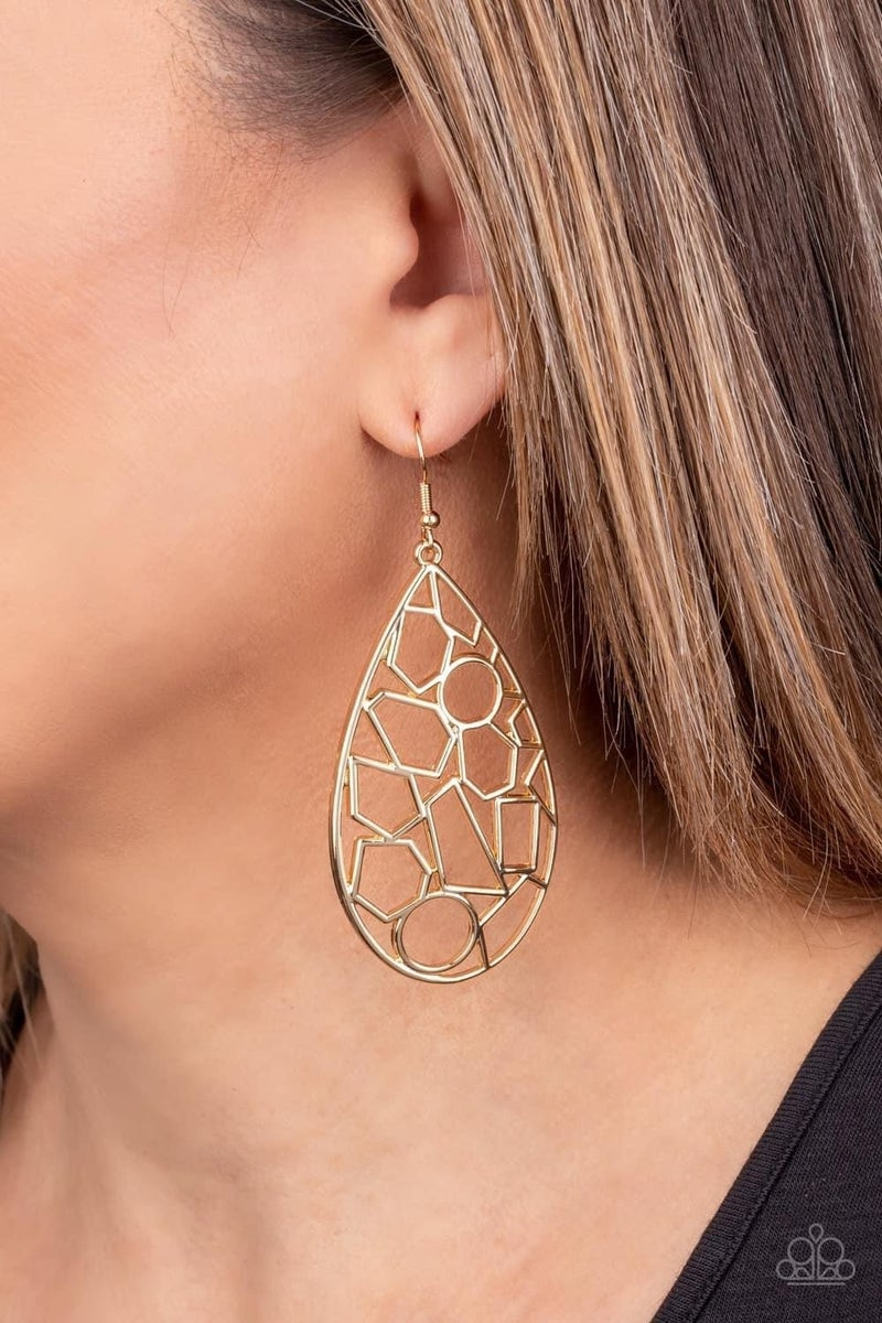 Reshaped Radiance - Gold Earrings