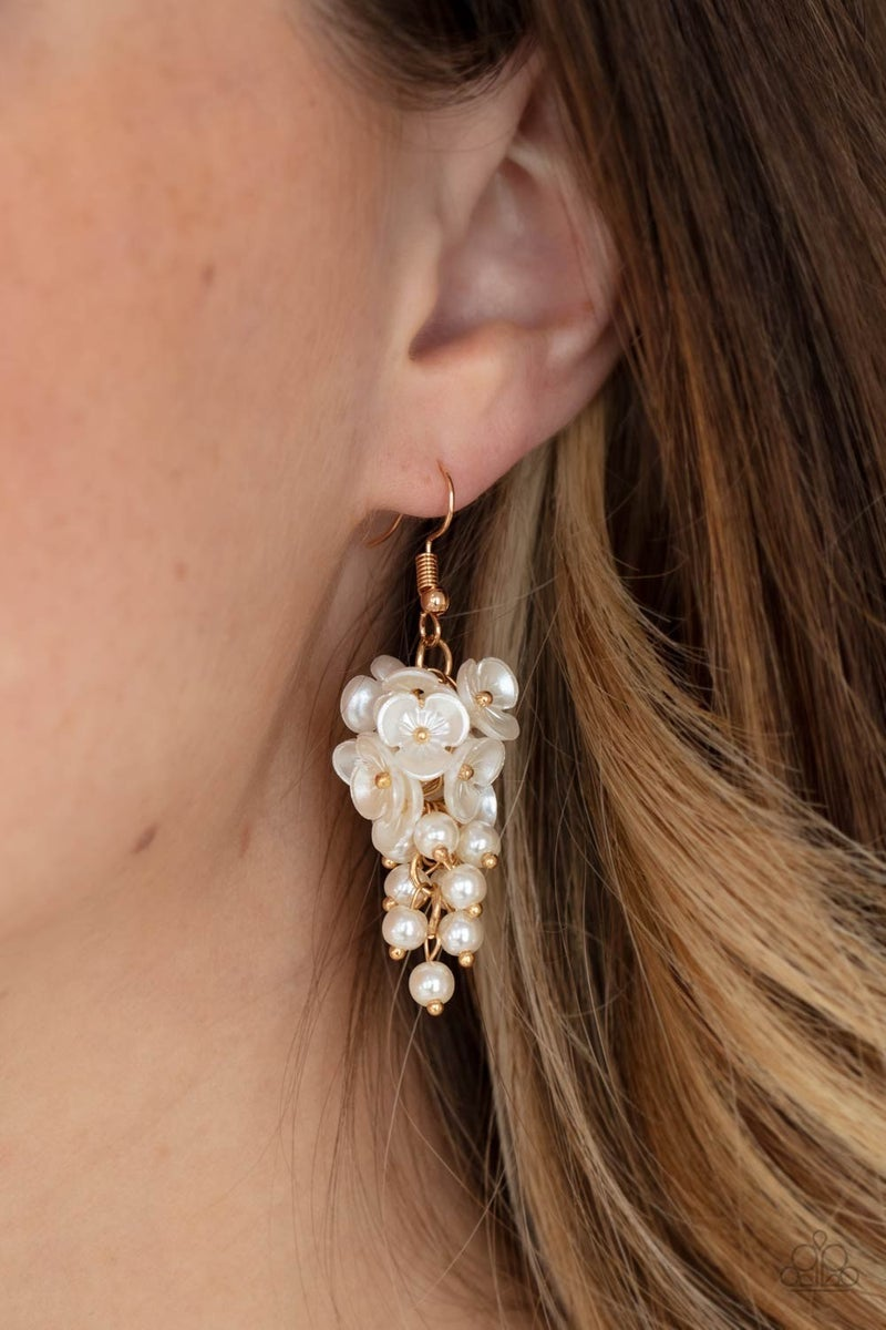 Bountiful Bouquets - Gold Earrings - Life of the Party Exclusive June 2021