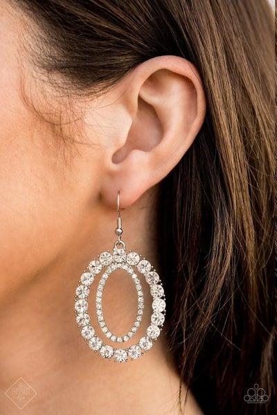 Deluxe Luxury - White Earrings
