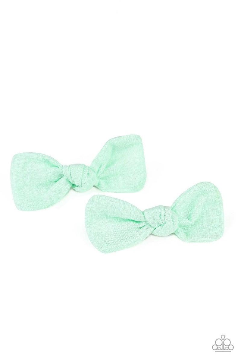 Little BOW Peep - Green Hair Clip