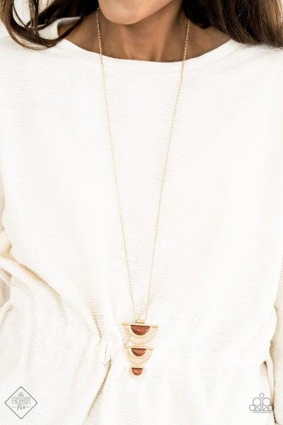 Serene Sheen - Gold Necklace - July 2020 Fashion Fix