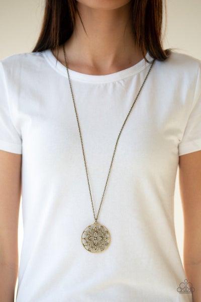 Mandala Melody - Brass Necklace