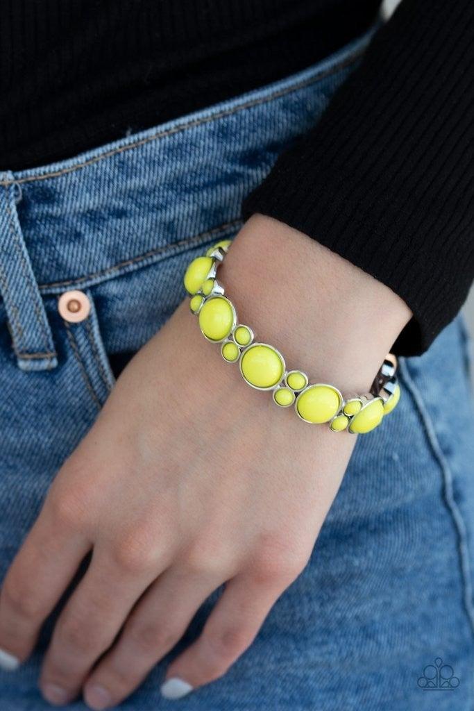 Bubbly Belle - Yellow Stretchy Bracelet