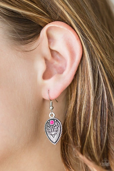Distance PASTURE - Pink Earrings
