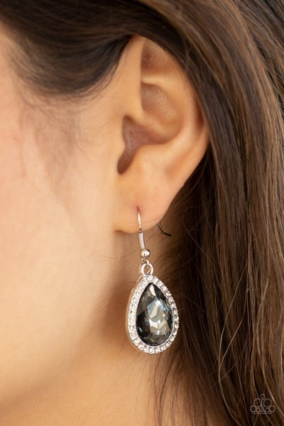 Dripping With Drama - Silver Earrings