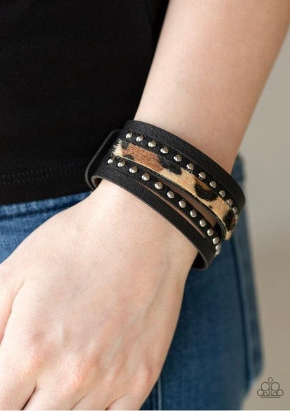 Born to Be Wildcat - Brown Snap Wrap