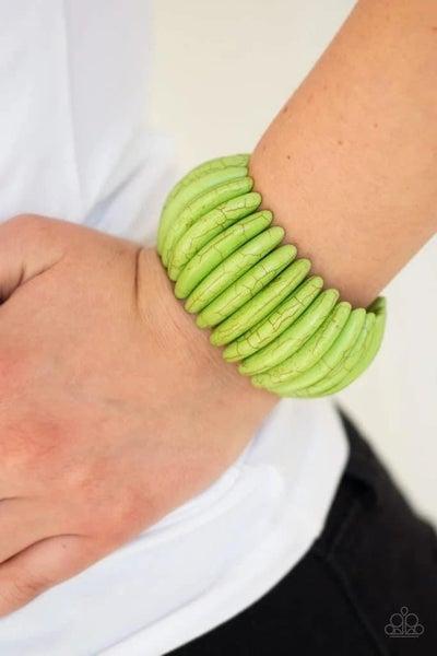 Naturally Nomad - Green Stretchy Bracelet