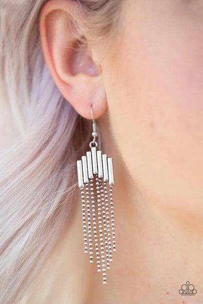 Radically Retro - Silver Earrings